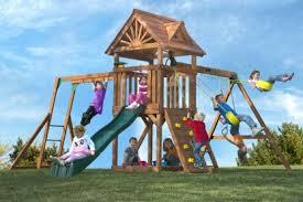 Swing Sets For Small Backyard by Cedar Swing Sets For Small Backyards High Flyer