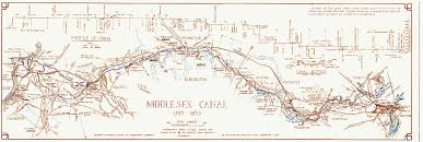 Lowell Massachusetts Map by Middlesex Canal Association