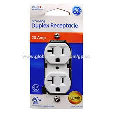 20a 120v ac duplex receptacle gfci with no green power led