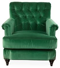 Rocking Chair Ghost Pop Up Acton Tufted Chair Emerald Green Velvet One Kings Lane Home