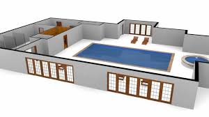 House Plans With Pools House Plan 3d Swimming Pool Floor Plan With Motion Spline Youtube