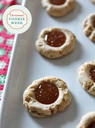 dairy free salted caramel thumbprint cookies the speckled palate