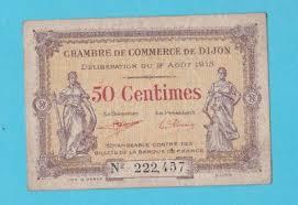 chambre de commerce dijon chambre de commerce de dijon note 1919 1 franc vf