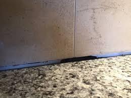 Gap Between Backsplash  Granite - Backsplash trim strips