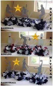 banquet centerpieces sports theme mitzvah centerpieces centerpieces