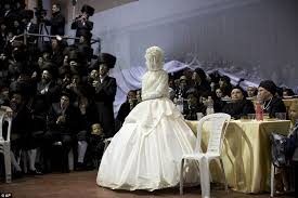 wedding in the ultra orthodox wedding in israel sees thousands of guests