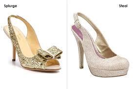 wedding shoes glitter hot wedding shoes splurge vs bridalguide