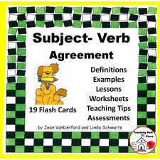 subject verb agreement review worksheets assessments flash