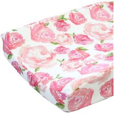 Harlow Crib Bedding by Harlow U0027s Watercolor Rose Changing Pad Cover Caden Lane