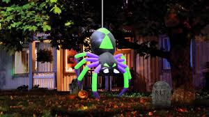 airflowz halloween dropping inflatable spider youtube