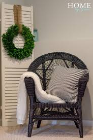 wicker chair makeover home by grace