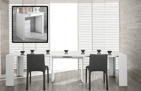 modern ultra compact extendable white dining table
