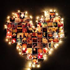 heart shaped christmas lights found something crafty for you both to do with your instagram photos