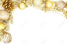 gold christmas golden christmas border of baubles and shiny branches stock photo