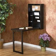 Wall Mount Folding Table Funiture Computer Desk For Home Ideas With Small Black Wood Wall