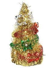 house cone shaped gold tinsel tree 10 ebay