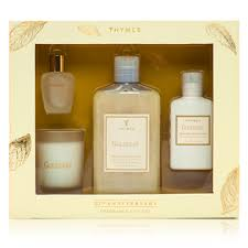 thymes goldleaf gift set bath and gift set