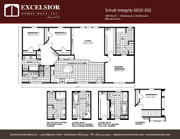 schult modular home floor plans schult integrity 6032 302 excelsior homes west inc