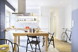 bright modern kitchen charming small apartment with stone walls and bright modern decor