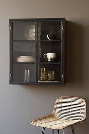 wall mounted kitchen display cabinets square metal glass pane wall cabinet from rockett st george