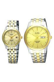 Jam Tangan Alba Pasangan harga alba jam tangan berpasangan pria wanita gold