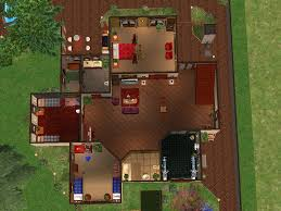 mod the sims crystal pond villa a two story house with three
