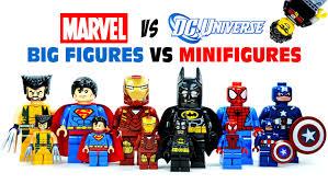 lego dc vs marvel superheroes big figures vs minifigures knockoffs