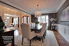 Dining Rooms With Wainscoting Traditional Dining Room With Wainscoting U0026 Crown Molding In