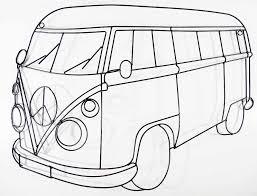 vw campervan clipart 45