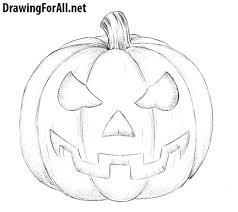 how to draw a halloween pumpkin drawingforall net