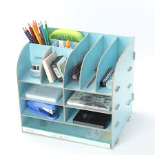 Organizer Desk L New Diy Wood Makeup Organizer L Size Desk Stationery Cosmetics
