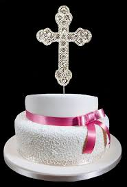communion cake toppers silver rhinestone cross cake topper communion