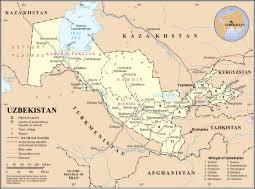 uzbekistan map in world uzbekistan