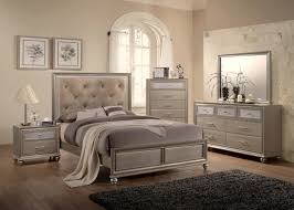 tufted headboard bedroom set and design mirrored trends images