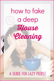 a crazy easy way to clean your house a guide for lazy people