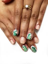 southwestern patterns nail art cactus western cactus longhorn