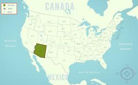 State Map Of Arizona by Arizona Az State Information