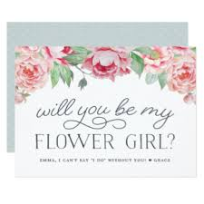 will you be my flower girl gift flower girl gifts t shirts posters other gift