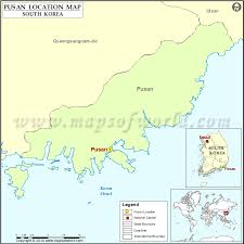 pusan on map where is pusan location of pusan in south korea map