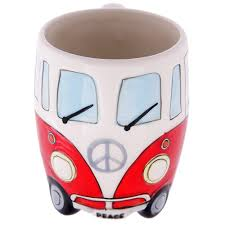 volkswagen red ceramic shaped coffee mug cool coffee mugs