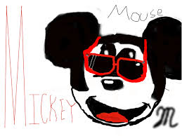 gangsta mickey slimber drawing painting