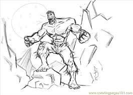 hulk coloring free fantastic coloring pages