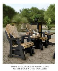 Outdoor Single Glider Chair Poly Outdoor Furniture The Barn Raiser