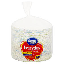 great value everyday premium paper plates 170 count walmart com