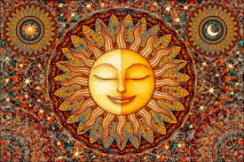 celestial home decor healing sunshine tapestry wall hanging sun moon celestial