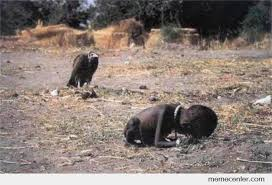 Starving Child Meme - this shocking photo depicts a starving sudanese child being stalked
