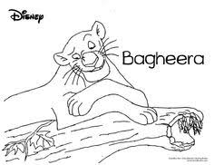 jungle book color disney coloring pages color plate