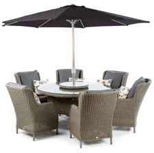 patio table lazy susan new in box notcutts tulla 6 seater outdoor dining set inc