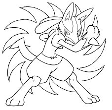 lucario coloring pages to download and print for free pokemon