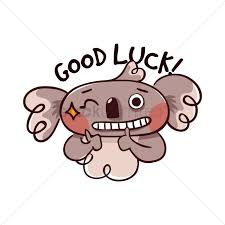 cartoon koala bear wishing good luck vector image 1957420